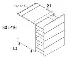 Four Drawer Vanity Base
