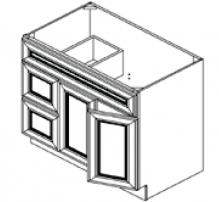 Vanity Sink Bases-Double Door Double Drawer Single Drawer Front Door On The Right