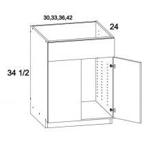 Two Door Single False Drawer Front Sink Base