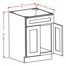 Vanity Sink Bases-Double Door Single Drawer Front