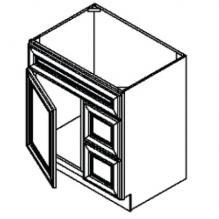 Vanity Sink Bases-Single Door Double Drawer Single Drawer Front Door On The Left