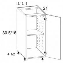 Full Height Single Door Vanity Base