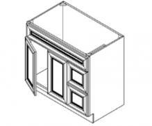Vanity Sink Bases-Double Door Double Drawer Single Drawer Front Door On The Left