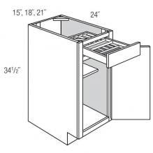 Base 1 Door 1 Drawer with 2-Tier Cutlery Drawer