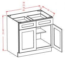 Double Door Double Drawer Bases