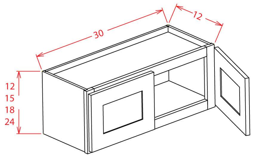 "30"" Bridge Cabinets"