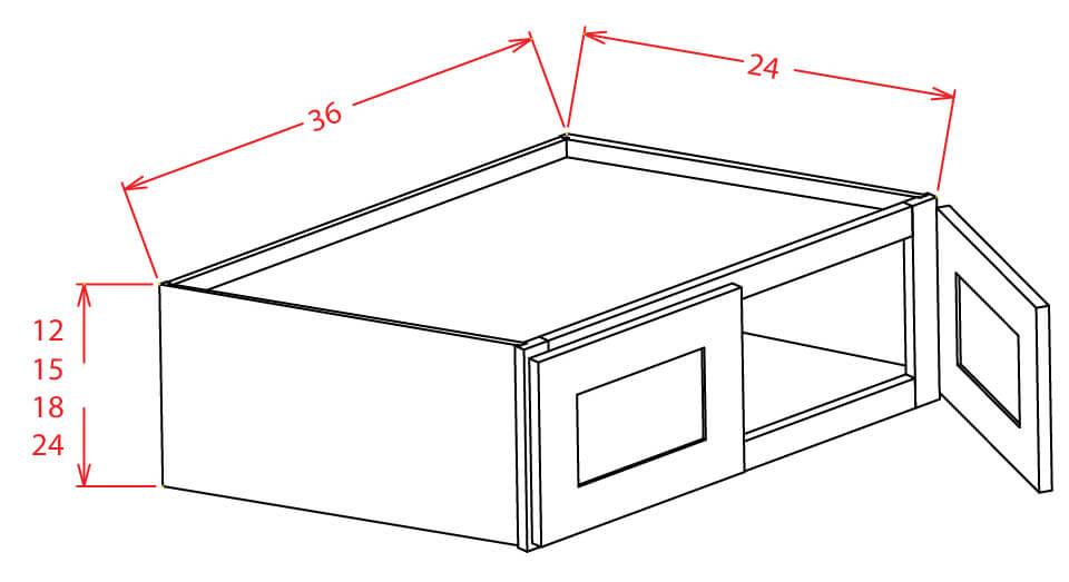 "Wall Refridgerator Cabinets- 12""H x 24""D"