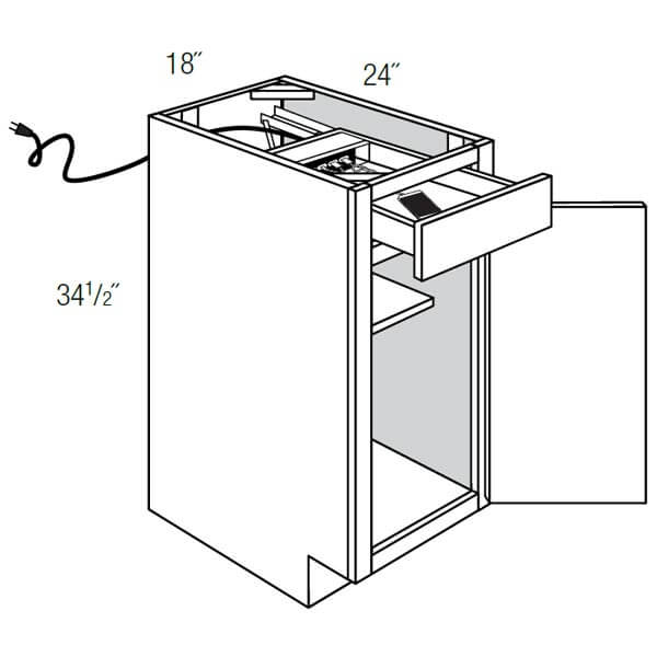 Base 1 Door with 1 Charging Drawer