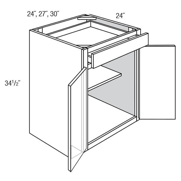 Base 2 Butt Door 1 Drawer