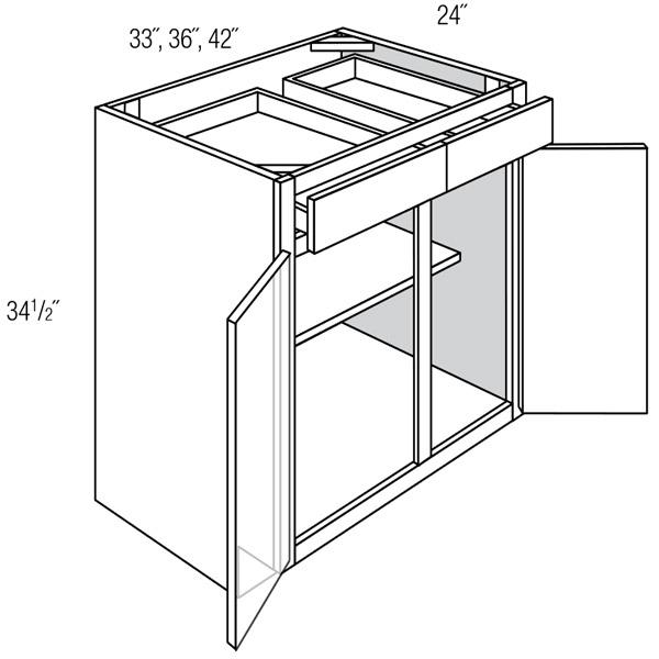 Base 2 Door 2 Drawer