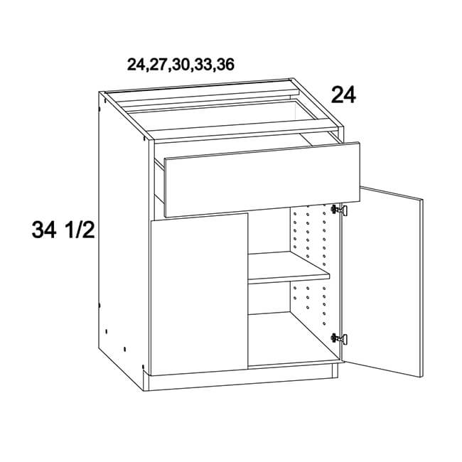 One Drawer Two Door Bases
