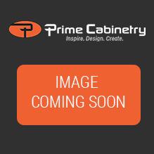 Shaker Grey  27x36 Wall Diagonal Glass Door Corner Cabinet