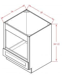 "Shaker Espresso 30"" Base Microwave Cabinet"