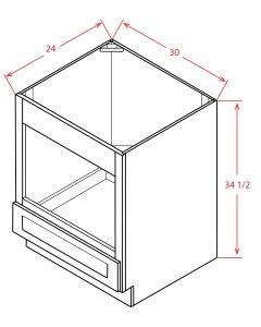 "Tacoma White 30"" Base Microwave Cabinet"
