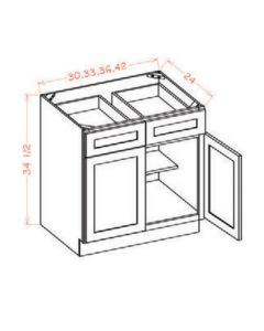 "Shaker Espresso  42"" Base Cabinet"