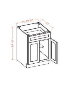 "Shaker Espresso  24"" Base Cabinet"