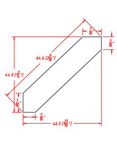 """Shaker Grey 96"""" Angle Crown Moulding"""