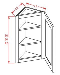 Yukon Chocolate 12x42 Wall End Angle Cabinet
