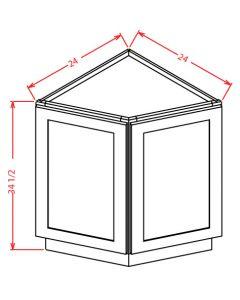"""Shaker White 24"""" Angle Base Cabinet"""