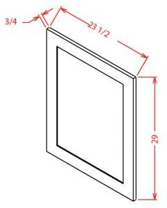 Shaker White  Base Decorative Door Panel