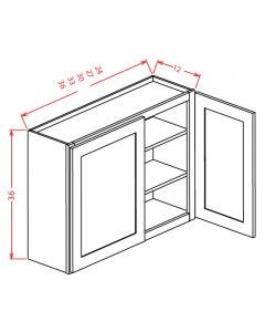 Yukon Chocolate 33x36 Double Door Wall Cabinet