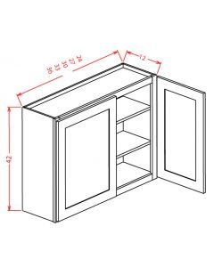 Columbia Saddle 33x42 Double Door Wall Cabinet