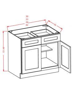 "Shaker Grey  42"" Base Cabinet"