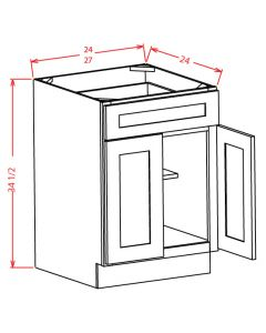 "Shaker Grey  24"" Base Cabinet"