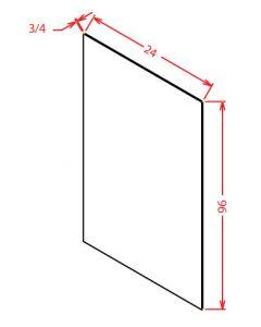 Shaker Grey  24x96 Shelf Board