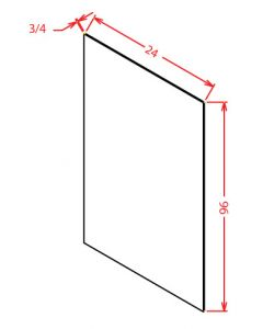 Shaker White 24x96 Shelf Board