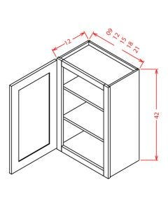 Shaker Espresso  18x42 Single Door Wall Cabinet