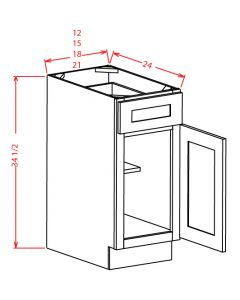 "Shaker White 12"" Base Cabinet"