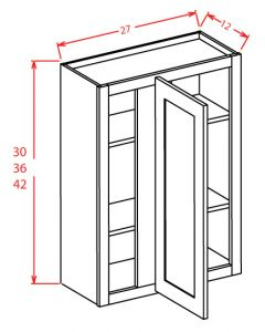 Shaker Grey   27x42 Blind Wall Corner Cabinet