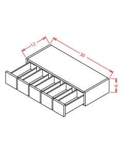 Shaker Grey  6x30  Wall Spice Drawer Cabinet / 5 Drawers