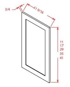 """Shaker Grey   36"""" Wall Decorative Door Panel"""