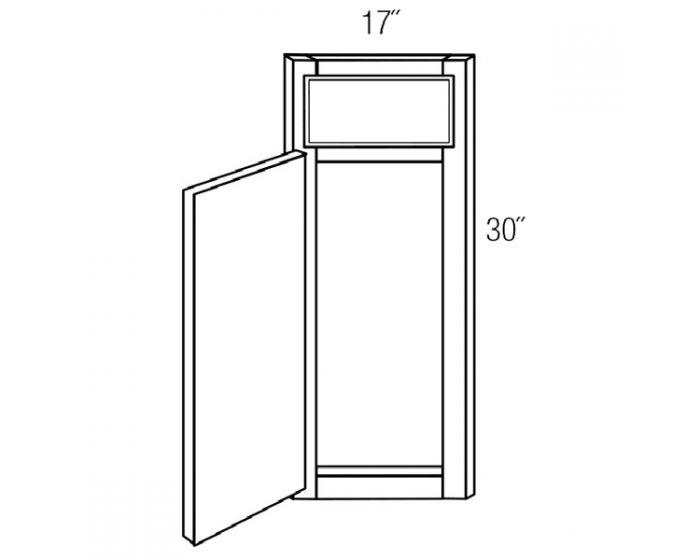1 Door Corner Sink Front
