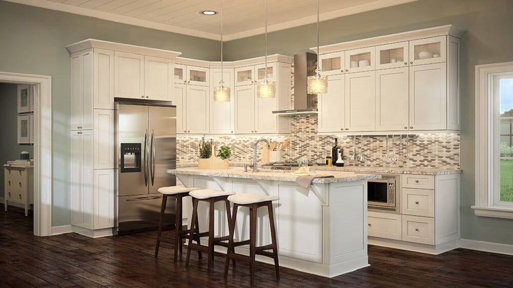 Shaker Antique White Kitchen Cabinets Photo Gallery | Prime ...