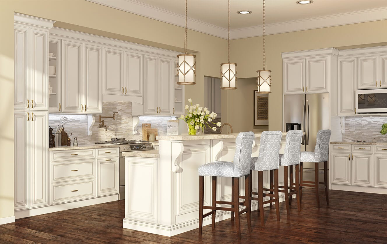 Top 3 Antique Kitchen Cabinets For Sale Antique Style White Kitchen Cabinets