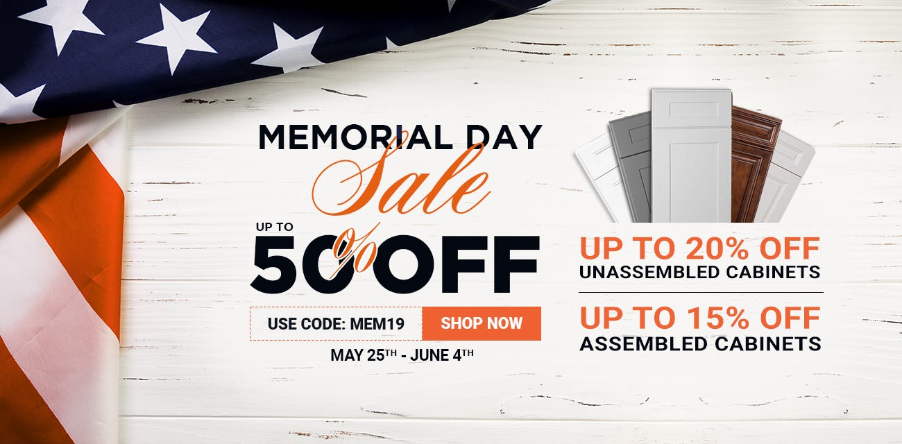 Save Up to 50% Off During Memorial Day